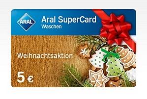 ARAL: 10 Euro Tankkarte bestellen und eine 5 Euro Aral SuperCard Waschen gratis erhalten