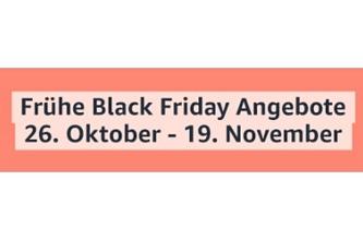 Amazon: Frühe Black Friday Angebote vom 26.10. – 19.11.2020