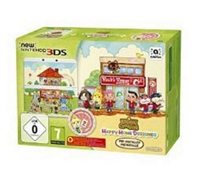 New Nintendo 3DS – Konsole, weiß + Animal Crossing Happy Home Designer + Zierblende