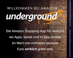 Amazon Underground: Jede Menge Apps, Spiele und In-App-Artikel für Android kostenlos erhalten