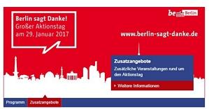 Berlin sagt Danke! – Kostenloser Eintritt in Museen, Sportveranstaltungen und weitere am 29. Januar 2017