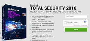6 Monate Bitdefender Total Securty 2016 kostenlos testen