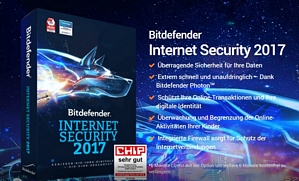 Software Bitdefender Internet Security 2017 (1 PC) 12 Monate kostenlos nutzen