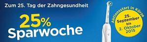 25% zurück auf Oral-B Zahnbürsten – Aktion erst ab dem 25. 9. 2015 gültig