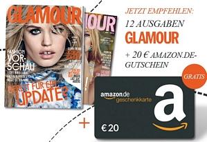Jahresabo der Zeitschrift Glamour für effektiv 4,60 Euro