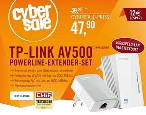 TP-LINK WiFi N Powerline AV500 Extender Starter Kit (TL-WPA4220KIT)