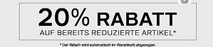 Deichmann: 20 Prozent Rabatt auf bereits reduzierte Artikel