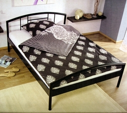 ebay wow metall bett in schwarz 140 x 200 cm. Black Bedroom Furniture Sets. Home Design Ideas