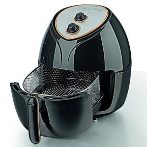 gourmetmaxx Heißluffritteuse + XXL Frittierkorb 1800 W schwarz Fritteuse (03335)