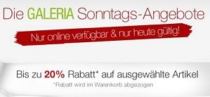 Galeria Kaufhof Sonntagsangebote – nur heute viele Rabatte z.B. 15 Prozent auf LEGO