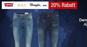 Galeria Kaufhof Mondscheintarif – 20 Prozent Rabatt auf Damen- und Herrenjeans (auch auf Sale-Ware)