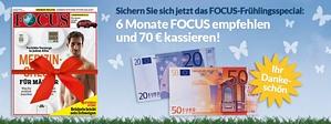 Burda: Halbjahresabo Focus für effektiv nur 26,20 Euro
