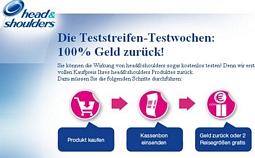 head&shoulders Testwochen – Kaufbelege einsenden und Geld zurück erhalten – Doppelpacks im Wert von über 20 Euro kostenlos erhalten