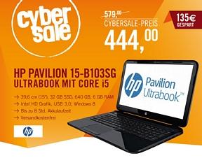 HP Pavilion Sleekbook 15-b103sg (D2W86EA) 15,6 Zoll Notebook