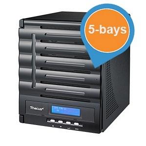 Thecus N5550 NAS (bis zu 5 HDDs)