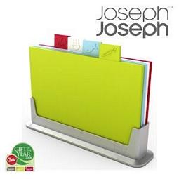 Joseph Joseph Index Schneidebrett-Set mit 4 Brettchen und 1 Halter