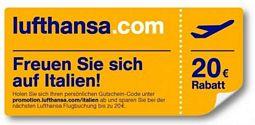 Lufthansa: Günstig fliegen mit 20 Euro-Gutschein