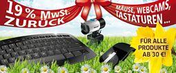 Microsoft: 19 Prozent Cashback auf alle bis zum 14. Juli 2012 gekauften Hardware-Produkte