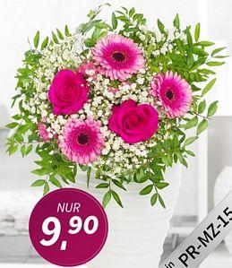 Miflora: Blumenstrauß Prosa oder Lovely Lemon für jeweils 9,90 Euro zzgl. 5,90 Euro Versand