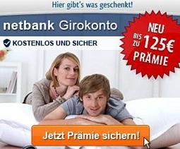 netbank: Bis zu 125 Euro Prämie bei Eröffnung eines neuen Girokontos