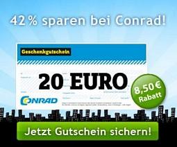 Quicker: 20 Euro Conrad-Gutschein für 11,50 Euro kaufen (nur lokal einlösbar)