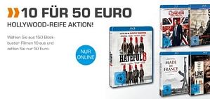 Saturn: 10 Blu-rays für 50 Euro