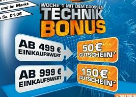 Saturn: Ab 499 Euro Einkaufswert einen 50 Euro-Gutschein und ab 999 Euro Einkaufswert einen 150 Euro-Gutschein erhalten