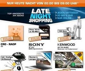 Saturn Latenight-Shopping am 31. Juli 2013 mit z.B. mit der Sony SF 32U Class 10 Speicherkarte (Vergleichspreis: rund 28 Euro)