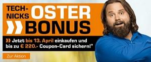 Saturn Oster Bonus – bis zum 13. April für mindestens 299 Euro einkaufen und Coupons im Wert von bis zu 220 Euro erhalten