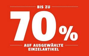 SportScheck: Sale mit bis zu 70 Prozent Rabatt + 10 Prozent Rabatt