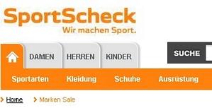 Sportscheck: 10 Euro-Gutschein mit 49 Euro MBW auch für Sale-Artikel