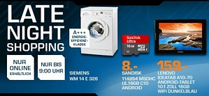 Saturn Latenight-Shopping am 27. August 2014