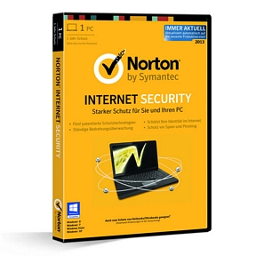Symantec NORTON INTERNET SECURITY 2013 1 User Box