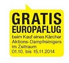 Gratis Europaflug beim Kauf eines Kärcher Aktions-Dampfreinigers