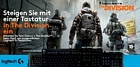 Logitech Gaming Aktion: Gratis Downloadcode für die PC-Version von Tom Clancy's The Division beim Kauf einer Logitech Tastatur