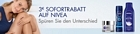 3 Euro Sofortrabatt auf Nivea-Produkte bei Amazon