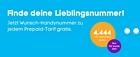 blau.de: Jetzt Wunsch-Handynummer zu jedem PrePaid-Tarif gratis