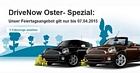 DriveNow Sonderaktion – Anmeldung für 4,99 Euro statt 29 Euro + 100 Freiminuten geschenkt