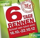 Galeria Kaufhof: 6 Tage Rennen-Aktion mit einem Rabatt von bis zu 15 Euro