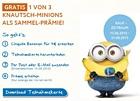Chiquita: Bananen im Wert von 4 Euro kaufen und Knautsch-Minion kostenlos erhalten