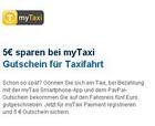 Günstig Taxifahren – 20 Euro Guthaben bei myTaxi