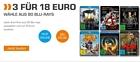 Saturn: 3 Blu-rays für 18 Euro