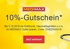 Ebay: 10 Prozent Rabatt bei Medimax