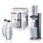 Sodastream Wassersprudler Crystal Megapack + Co2-Zylinder + 3x 0,6 Liter Glaskaraffe