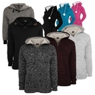 Urban Classics Winter Zip Hoodies Teddy Fell Hoody