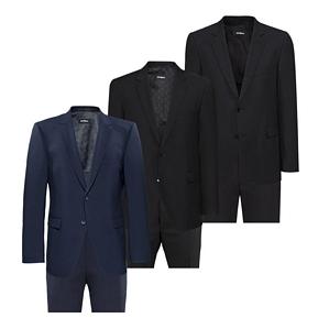 STRELLSON Herren Anzug Rick James Modern Fit grau schwarz blau