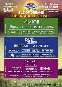 David Guetta Avicii Ingrosso 3-Tages Ticket Isle of Dreams Festival