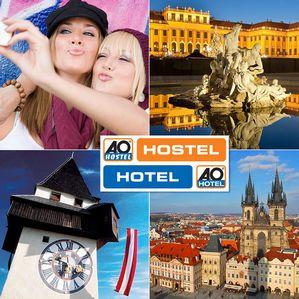 A&O TO GO Orange International Gutschein für 2 Nächte für zwei Personen in Wien, Prag oder Graz
