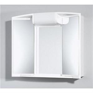 Spiegelschrank JOKEY ANGY 3D Steckdose Licht, zwei Spiegeltüren Kristallglas