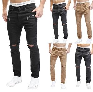 Merish Jeans Chino Hose Jeans Slim-Fit Destroyed Style Trend Herren J67